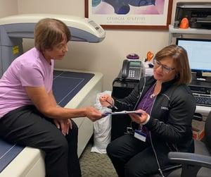 Moreland Providers Explain Bone Density to Patient
